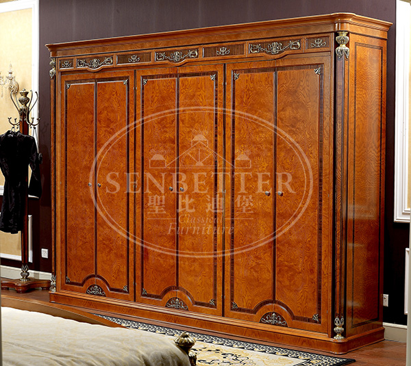 Senbetter veneer thomasville bedroom furniture with shiny brass accessory decoration for decoration-2