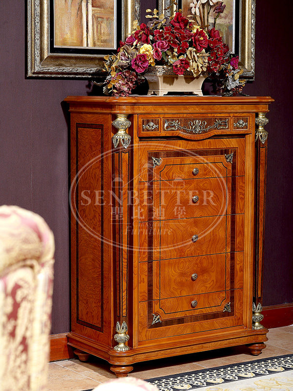 Senbetter veneer thomasville bedroom furniture with shiny brass accessory decoration for decoration-3