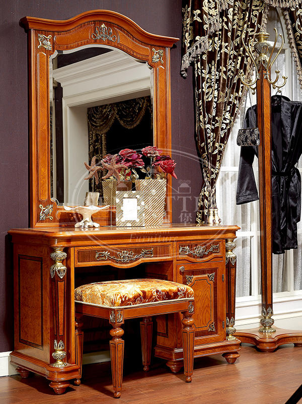 Senbetter veneer thomasville bedroom furniture with shiny brass accessory decoration for decoration