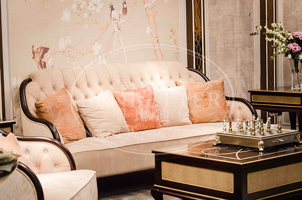 Senbetter luxury small living room furniture sets with flower carving for villa-1