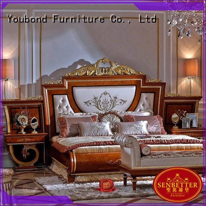 oak bedroom furniture veneer wood classic bedroom furniture Senbetter Brand