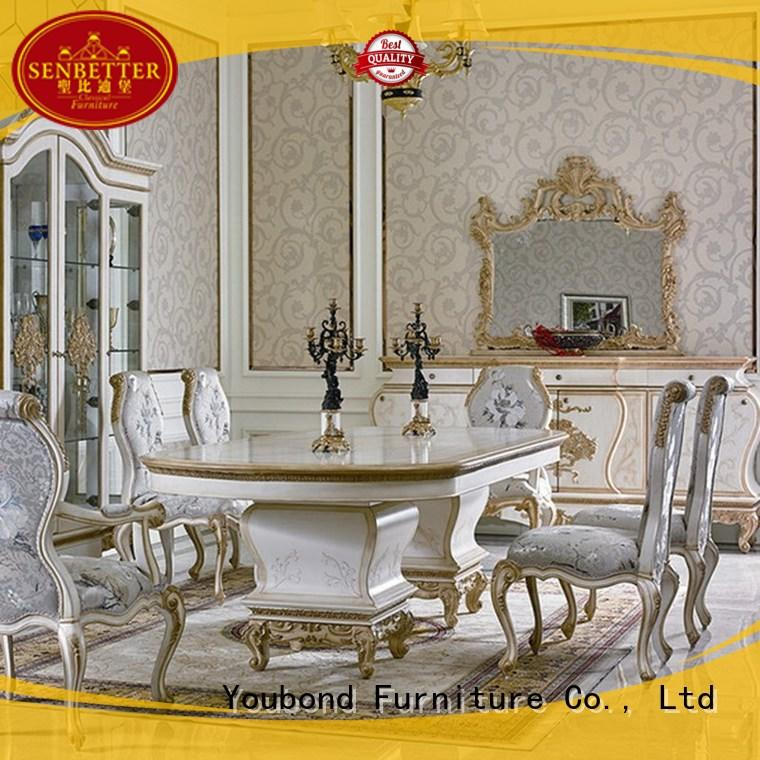 Senbetter hand carving real wood dining table set hot sale for home