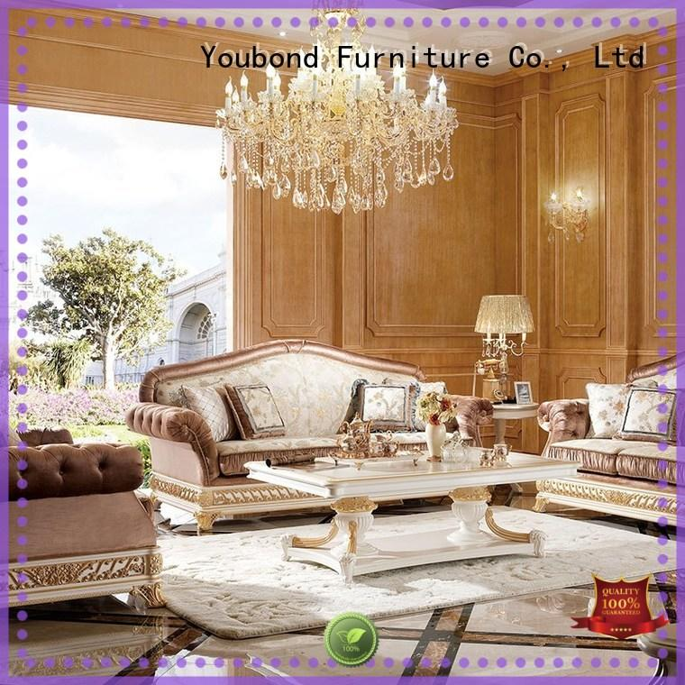 long dining table living room furniture classic style with solid wood chair for villa
