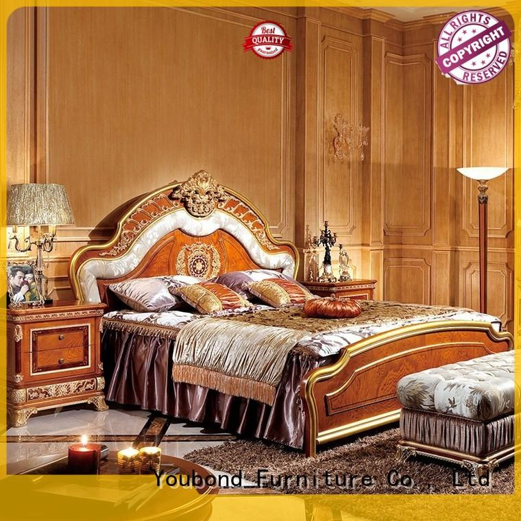 Senbetter european solid wood bedroom furniture with chinese element for royal home and villa
