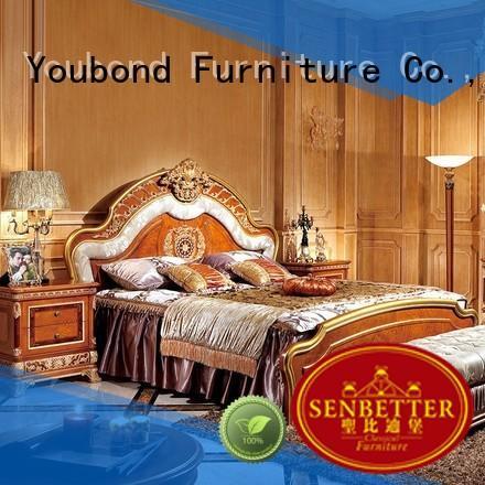 classic solid beech OEM classic bedroom furniture Senbetter