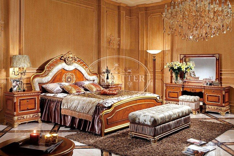 classic beech design solid Senbetter solid wood bedroom furniture