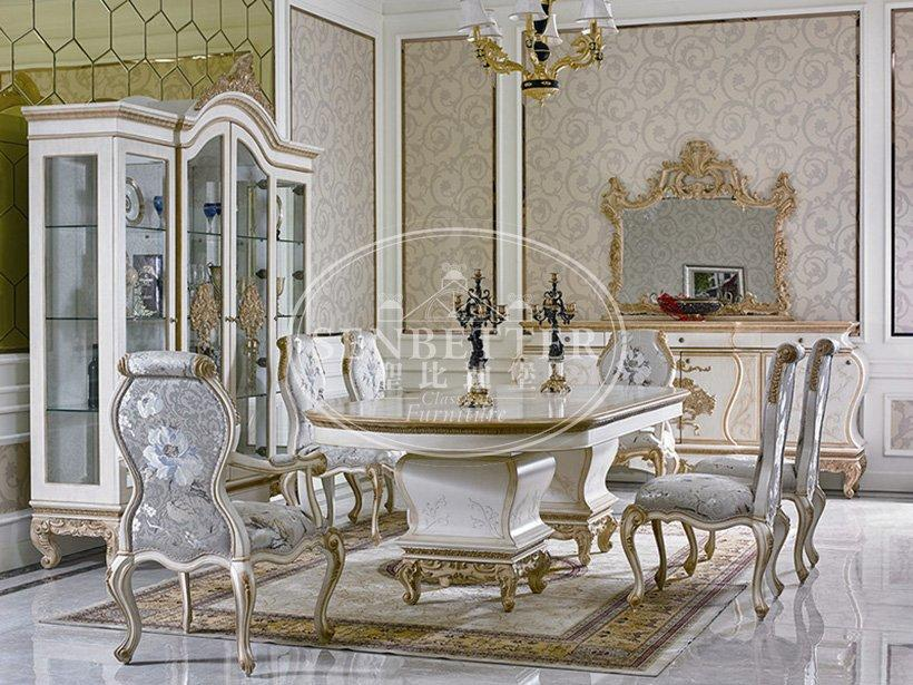 Senbetter custom italian dining room sets with chairs for villa