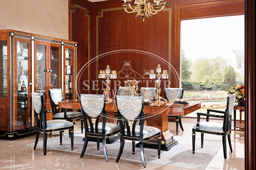 Senbetter solid wood dining set with wooden table for sale-4