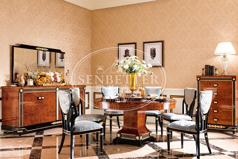 Senbetter solid wood dining set with wooden table for sale-7