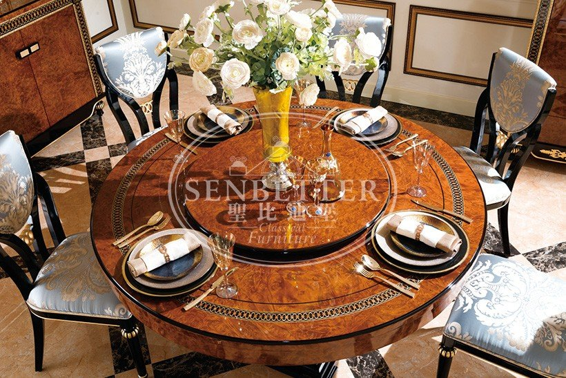 Senbetter solid wood dining set with wooden table for sale-8