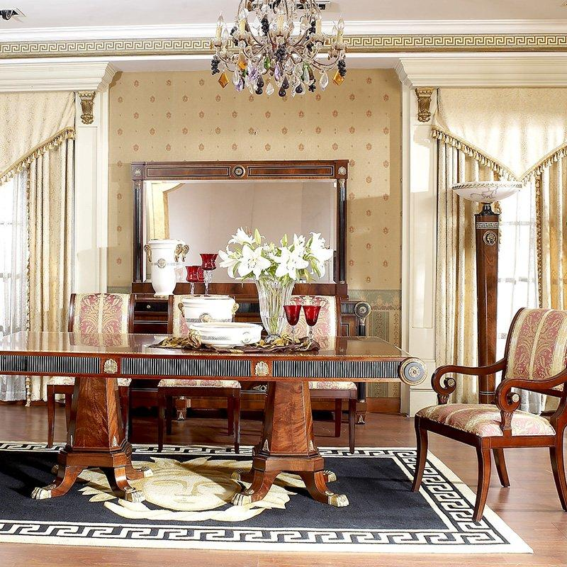 Spanish Antique Design Solid Wood Dining Room Classic Style Furniture Collection 0010