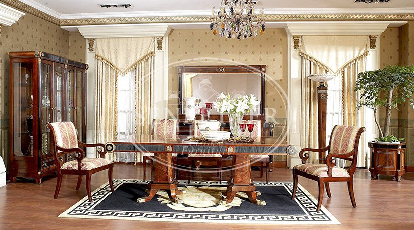 italian wood dining room sets manufacturer for sale-4