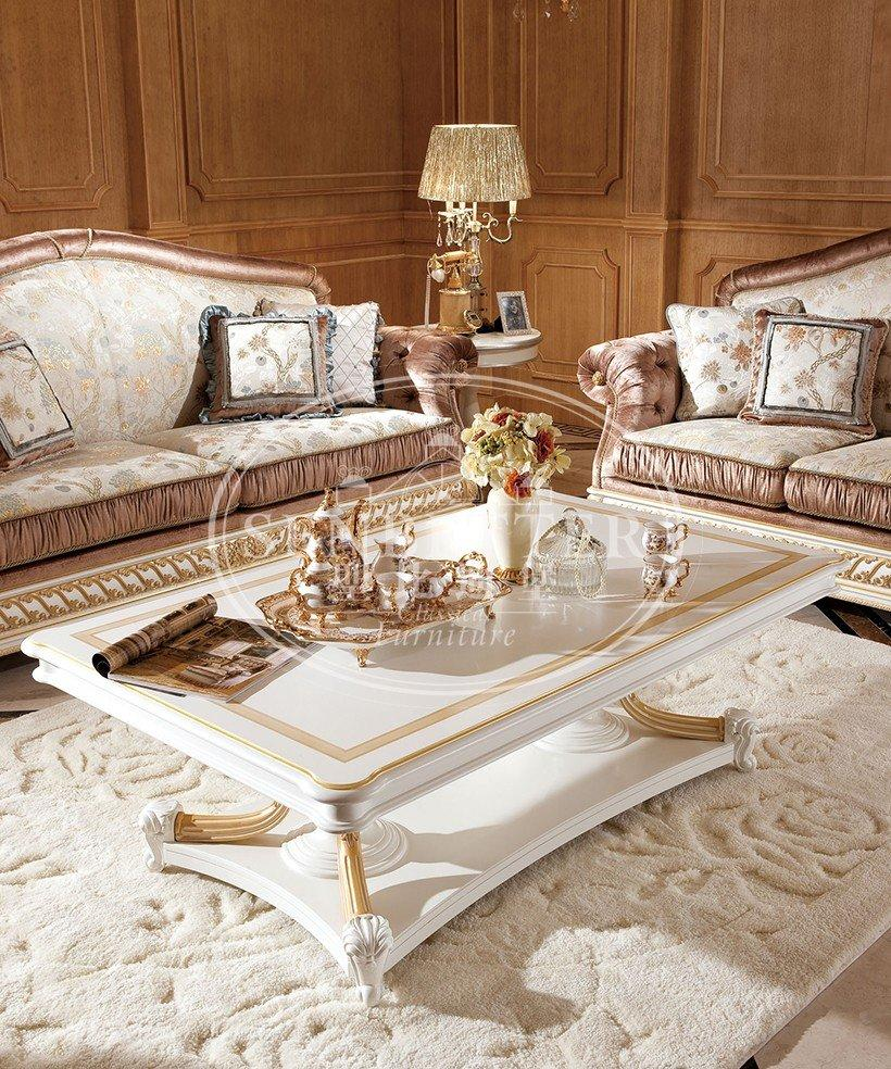 wood classic living room furniture baroque sofa Senbetter
