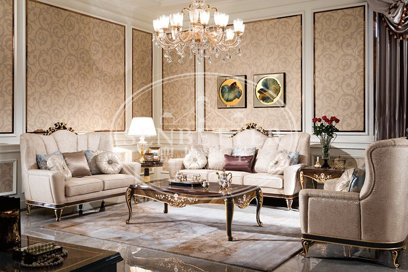 top living room furniture online with flower carving for hotel-6