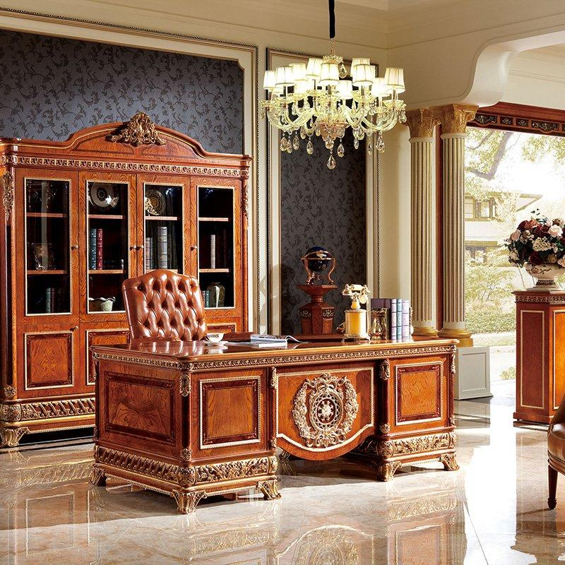 High-End Luxury Antique Design European Style Wooden Furniture For House / Office 0062