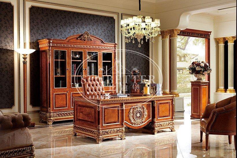 carved study mahogany classic office furniture Senbetter Brand