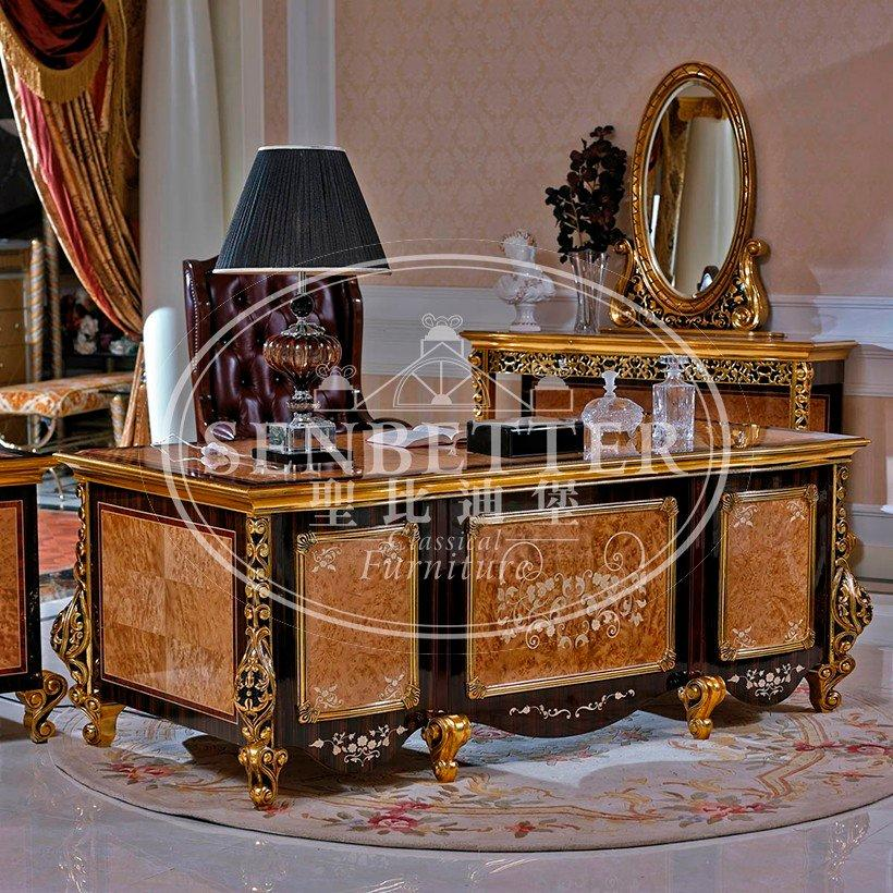 desk furniture louis gold houseoffice Senbetter Brand classic office furniture
