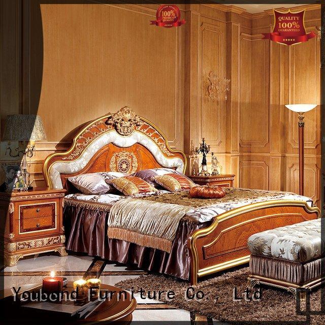 veneer gross style solid wood bedroom furniture Senbetter