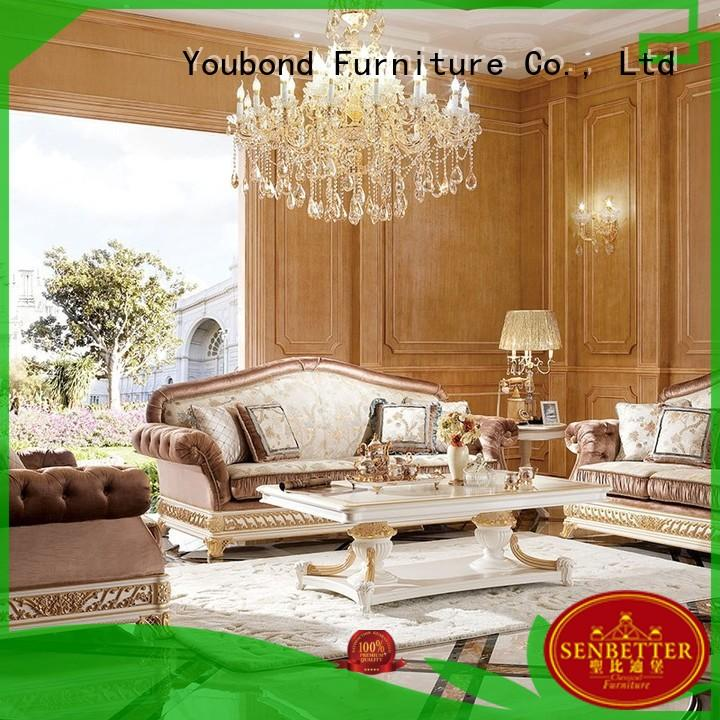 Senbetter wood living room table with mirror of buffet for living room