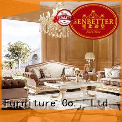 white living room furniture delicate vintage Senbetter Brand classic living room furniture