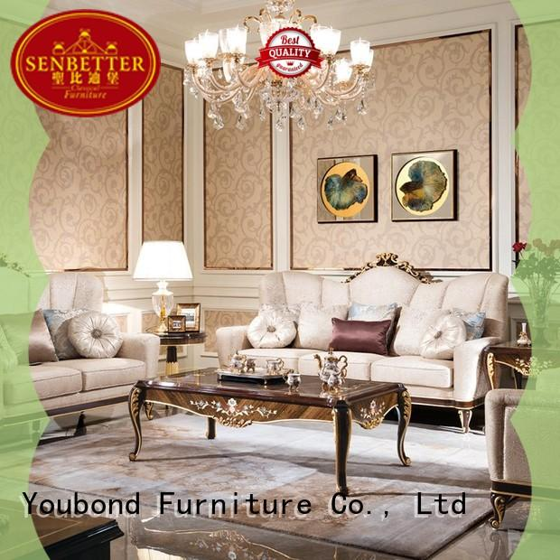 classic unique living room furniture with fabric or leather sofa for living room