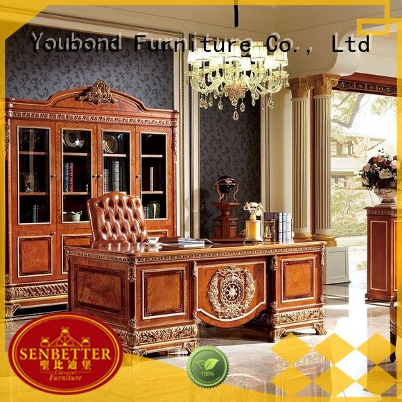 desk furniture luxury solid carved classic office furniture manufacture
