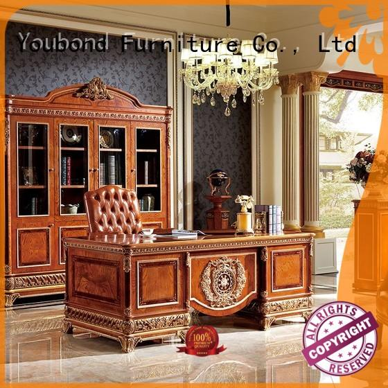 french home office desk furniture wood with bookcase for home