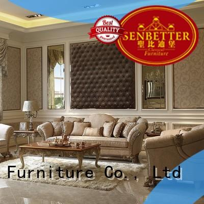 Senbetter fancy living room furniture sets with long dining table for villa