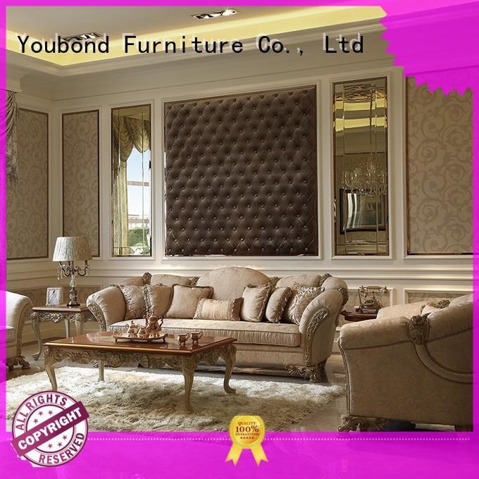 wood flower luxury classic living room furniture Senbetter Brand company