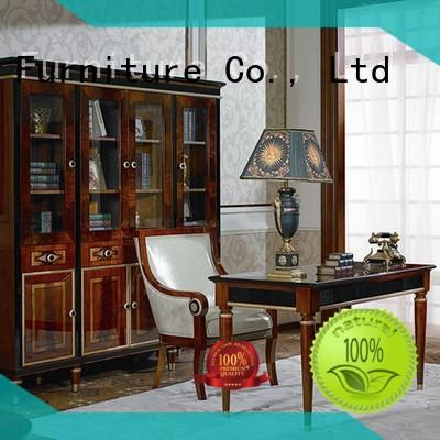 Senbetter gold traditional office furniture with office writing desk for villa