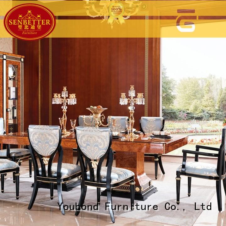 hand carving wooden dining set manufacturer for villa
