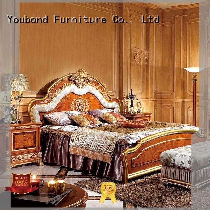 Senbetter Brand bedroom mahogany veneer classic bedroom furniture manufacture