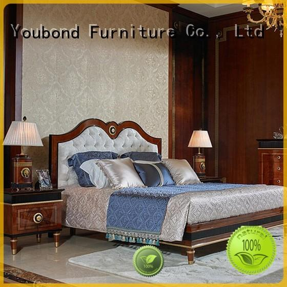 Senbetter luxury bedroom furniture with solid wood table and chairs for royal home and villa