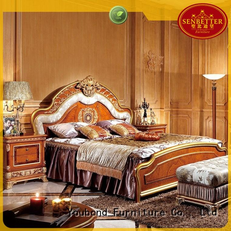 Quality Senbetter Brand gross wood classic bedroom furniture