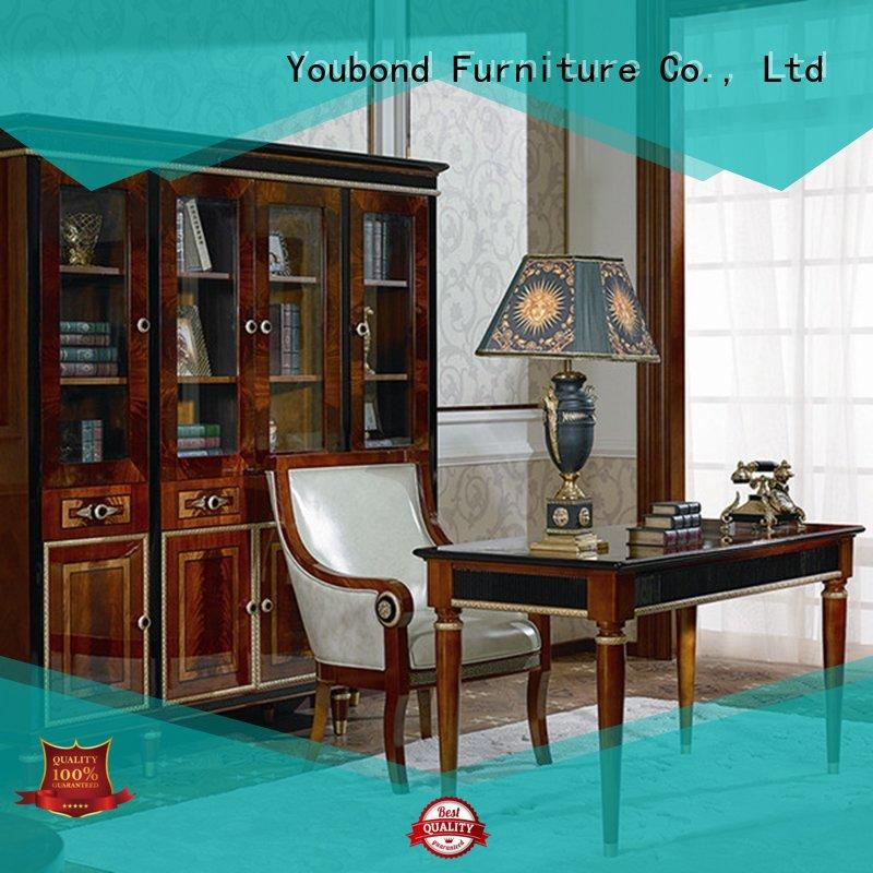 Senbetter luxury home office furniture wood with bookcase for home