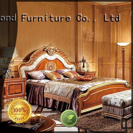style simple veneer solid wood bedroom furniture Senbetter