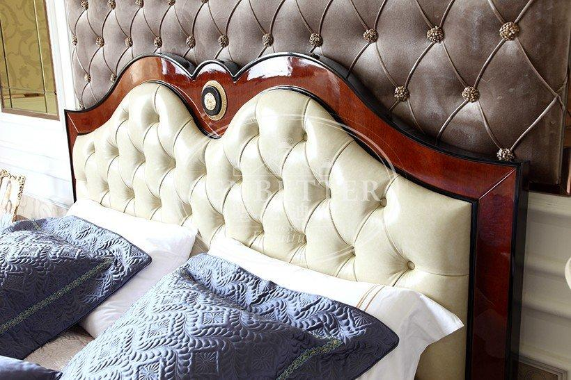 european luxury bedroom furniture with shiny brass accessory decoration for royal home and villa-1