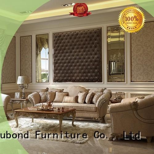 gloss traditional sofas living room furniture with flower carving for home Senbetter