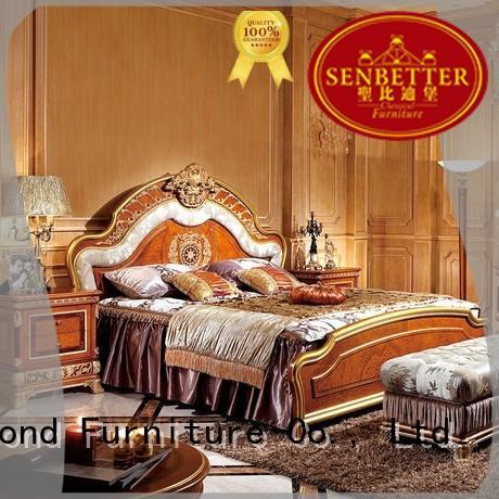 Senbetter pulaski bedroom furniture with shiny brass accessory decoration for sale