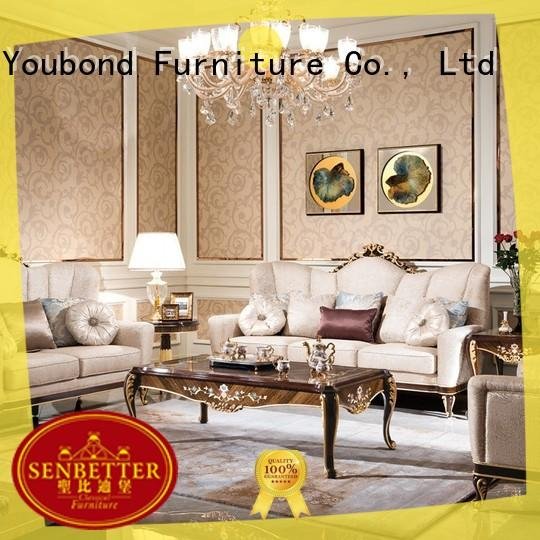 elegant style living room table sets for sale with flower carving for living room