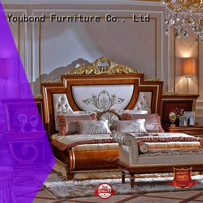 european brown furniture bedroom with solid wood table and chairs for sale