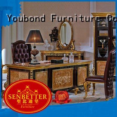 Custom european classic office furniture mahogany desk furniture