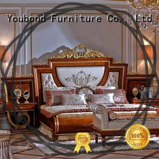 Senbetter custom bedroom furniture manufacturers with shiny brass accessory decoration for decoration