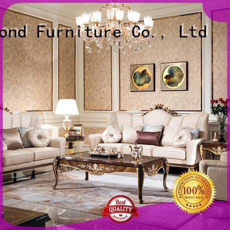 Custom classic living room furniture white dubai flower Senbetter