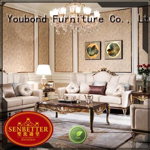 Senbetter elegant style 4 piece living room set supply for villa