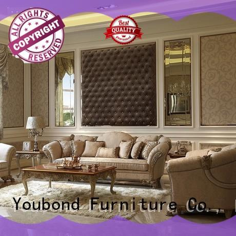wooden unique living room furniture with brass accessory for home