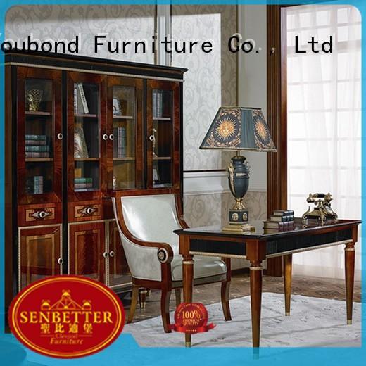 gold study desk furniture end Senbetter company