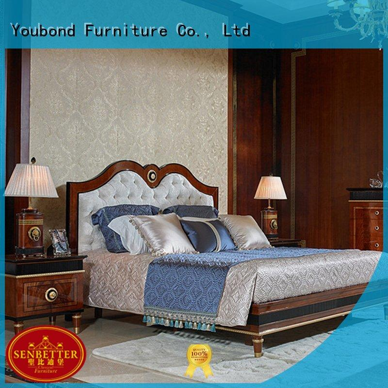 Senbetter antique white bedroom furniture with chinese element for decoration