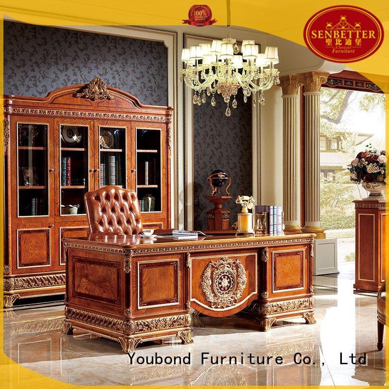 Custom mahogany classic office furniture end desk furniture