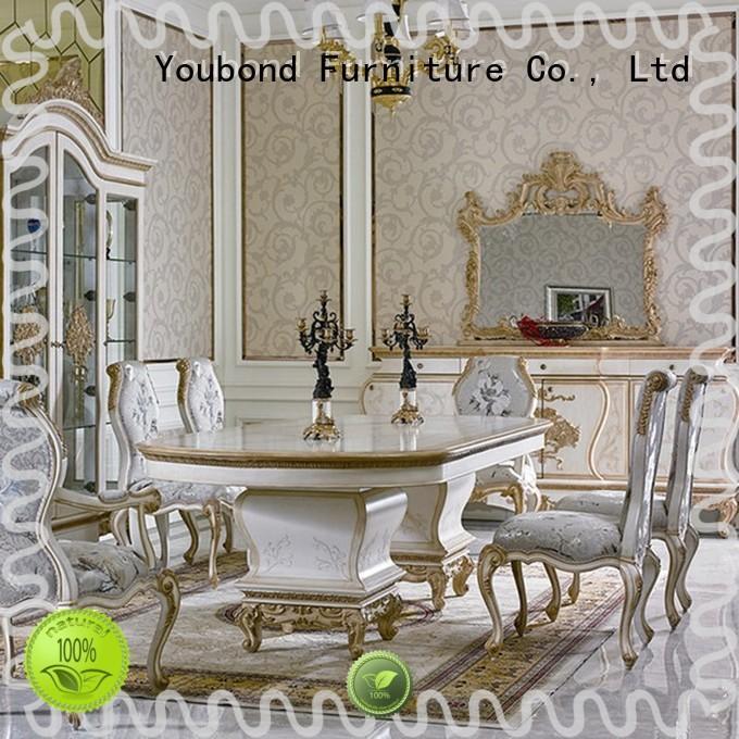 Senbetter antique real wood dining table set manufacturer for villa